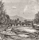 AFGHANISTAN. Kabul river-Cuzergao, Shardeh Valley c1885 old antique print